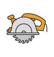 circular saw color icon vector image