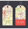 colorful bows vertical stripe frame pattern tags vector image