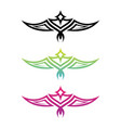 colorful tribal wing vector image vector image