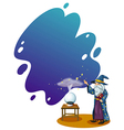 Crystal Ball Wizard vector image
