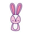 cute pink rabbit cartoon character icon vector image vector image