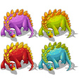 Dinosaurs with spikes tail vector image vector image