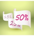 Discount of 50 and other percent on white vector image