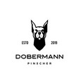 dobermann pinscher dog logo icon vector image