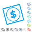 dollar icon rubber watermark vector image vector image