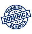 dominica blue round grunge stamp vector image vector image