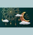 eid mubarok islamic greeting card background vector image vector image