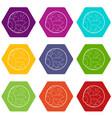eye icons set 9 vector image vector image