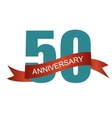 Fifty 50 Years Anniversary Label Sign for your vector image vector image
