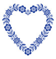folk heart design scandinavian ornament vector image vector image