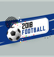 football abstract banner with design elements vector image