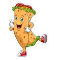 funny kebab cartoon character vector image vector image