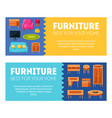 furniture horizontal banners templates set best vector image vector image
