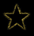 glitter star isolated black background vector image
