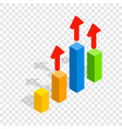 growth chart isometric icon vector image vector image
