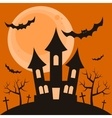 Halloween night background with terrible house vector image