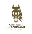 horse head with wine glass logo creative concept vector image vector image