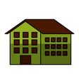 house silhouette isolated icon vector image vector image