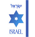 israel cover in blue and white national color vector image vector image