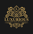 letter l - luxurious logo template vector image vector image