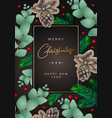 merry christmas and happy new year poster frame vector image vector image