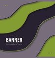 modern art abstract banner square frame for text vector image vector image