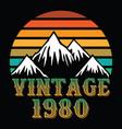 mountain vintage 1980 vector image