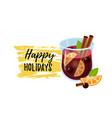 mulled wine glintwein vector image vector image