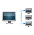 network connection icon vector image vector image