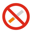 no smoking icon isolated vector image vector image