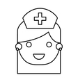 nurse avatar character isolated icon vector image vector image