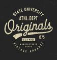 originals athletic dept t shirt design vector image