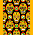 pattern for mexican day dead vector image vector image