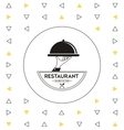 Plate icon Food and Menu design graphic vector image vector image