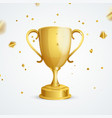 realistic detailed golden cup winner vector image