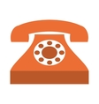 retro phone isolated icon design vector image vector image