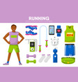 running sport equipment marathon runner man vector image vector image