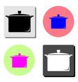 saucepan flat icon vector image