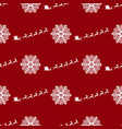 seamless pattern christmas reindeers are brought vector image vector image