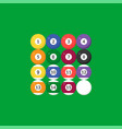 sequence billiard ball icon with number flat vector image vector image