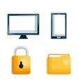 set technology data digital security design vector image