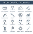 shot icons vector image vector image