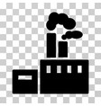 smoking factory icon vector image