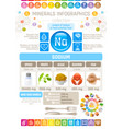 sodium mineral supplements rich food icons vector image vector image