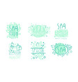 spa club labels or logos design set vector image vector image
