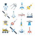 space vehicle set vector image