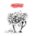 Strawberry in a cup vector image