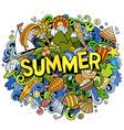 summer hand drawn cartoon doodles vector image
