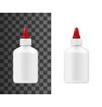 super glue white plastic bottle package mockup vector image vector image