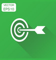 target aim icon business concept darts game vector image